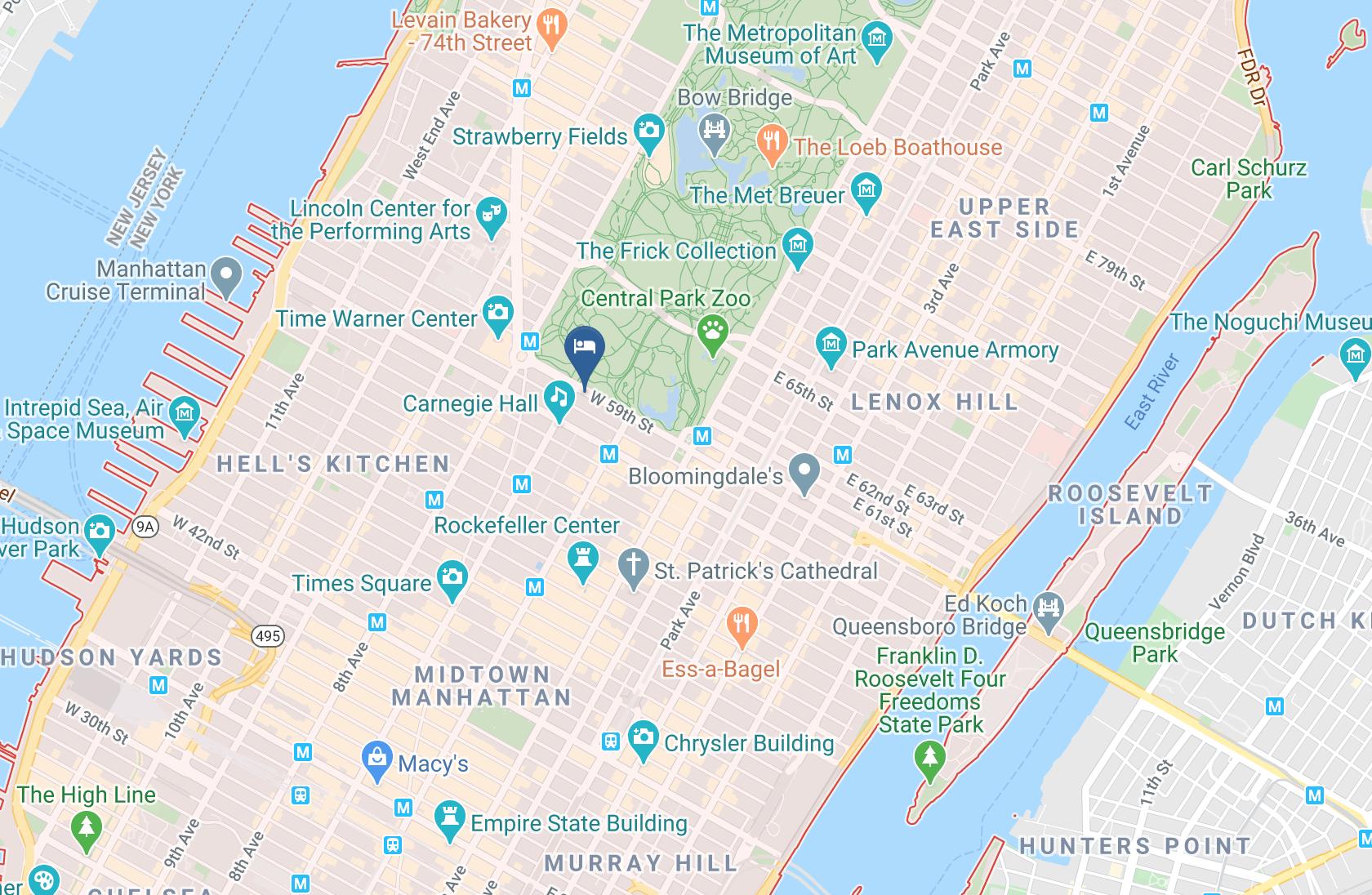 Google Map of JW Marriott Essex House