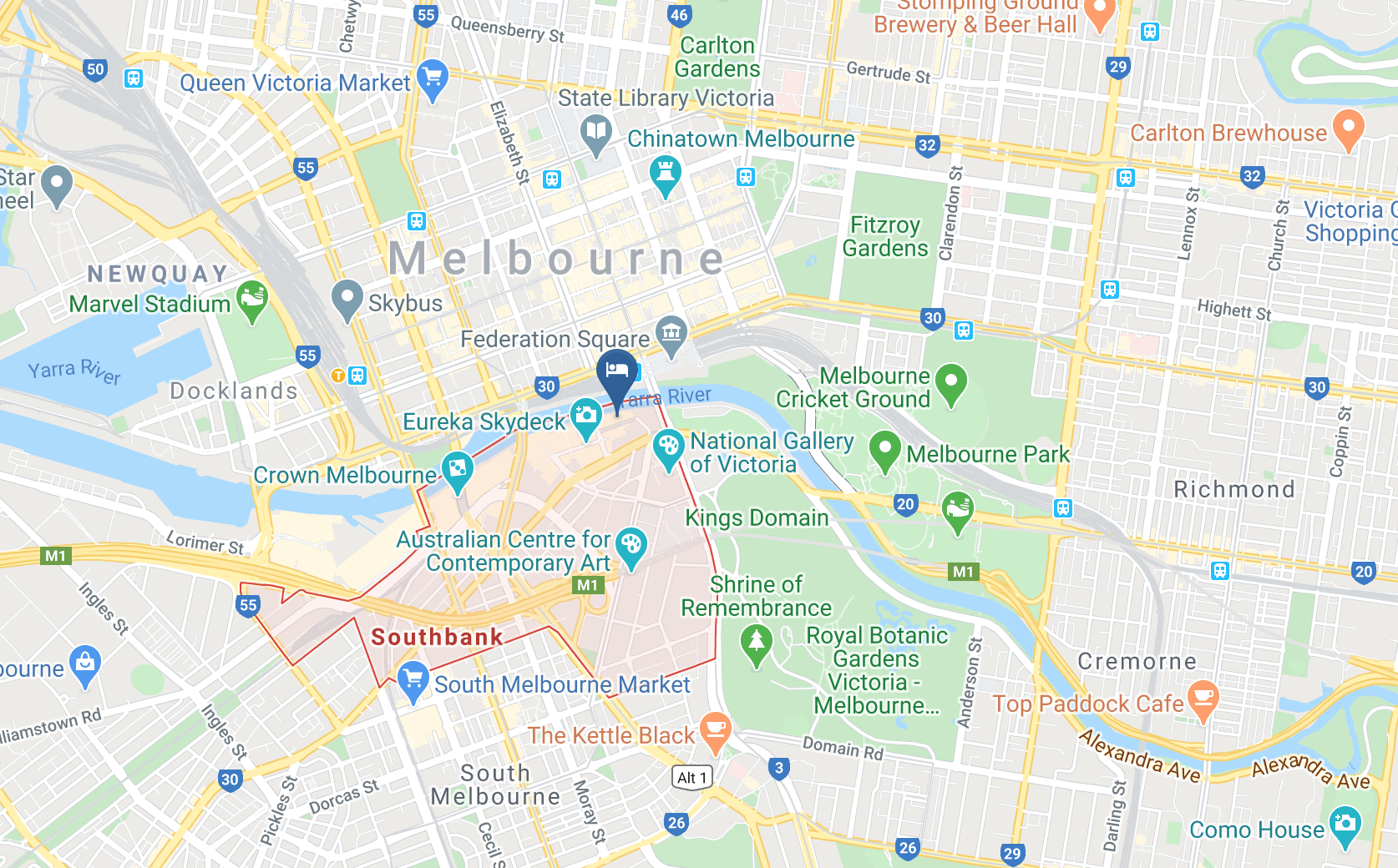 Google Map of The Langham Hotel