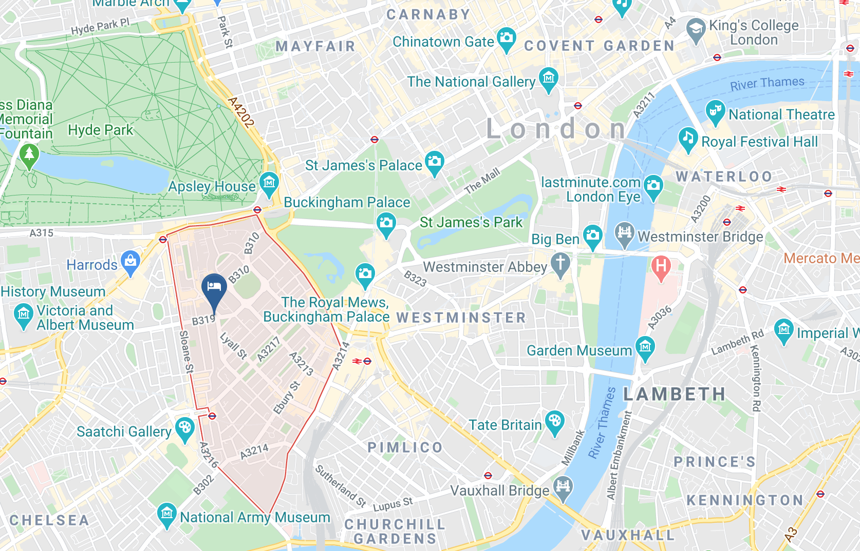 Google Map of The Hari London