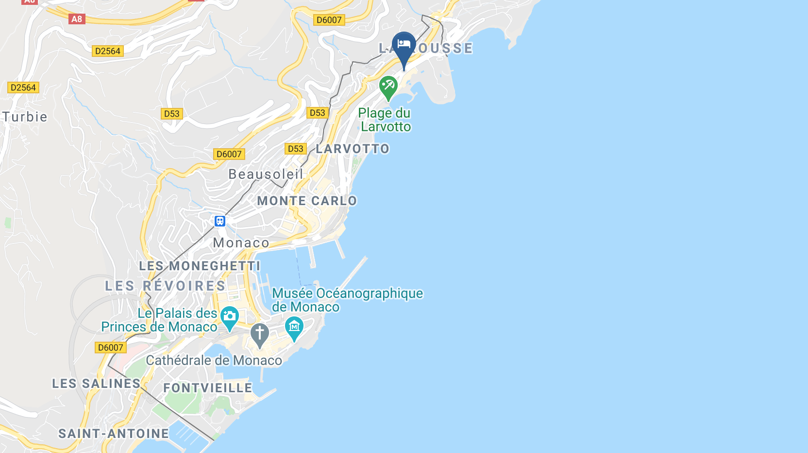 Google Map of Le Meridien Beach Plaza