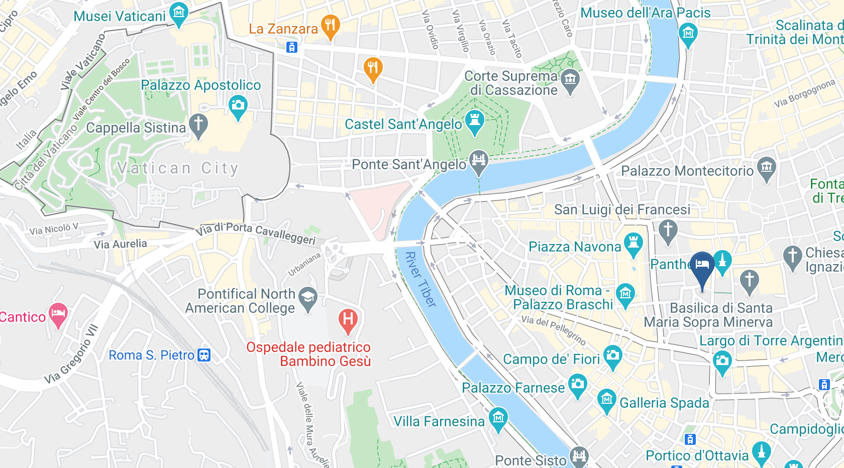 Google Map of Pantheon Iconic Rome