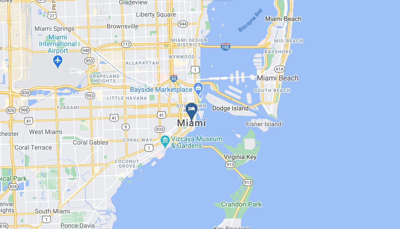 Google Map of Conrad Miami