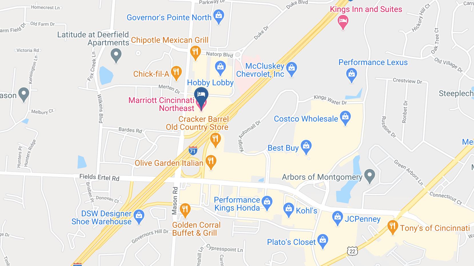 Google Map of Marriott Northeast